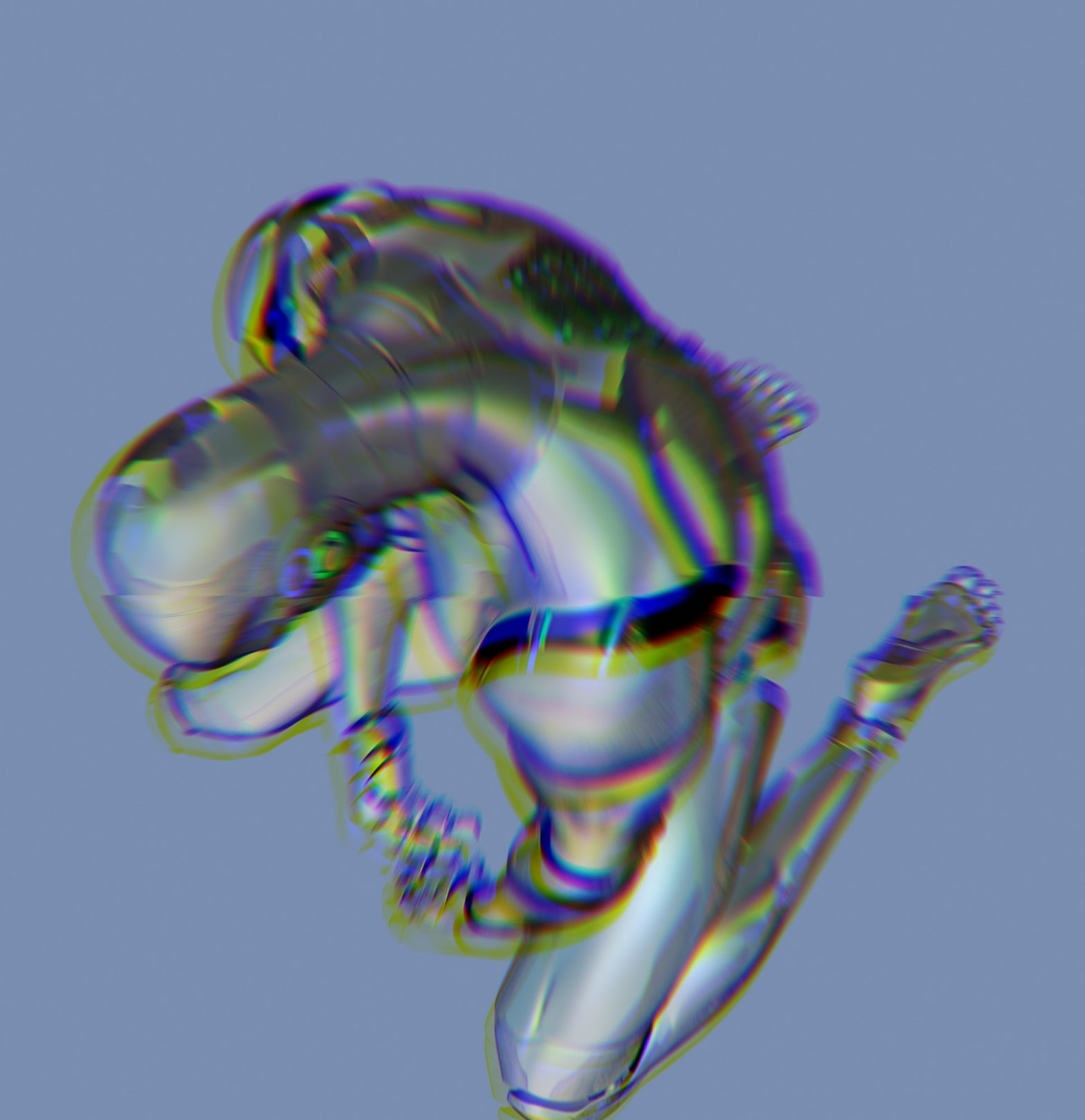 Glitchy image of a robot man